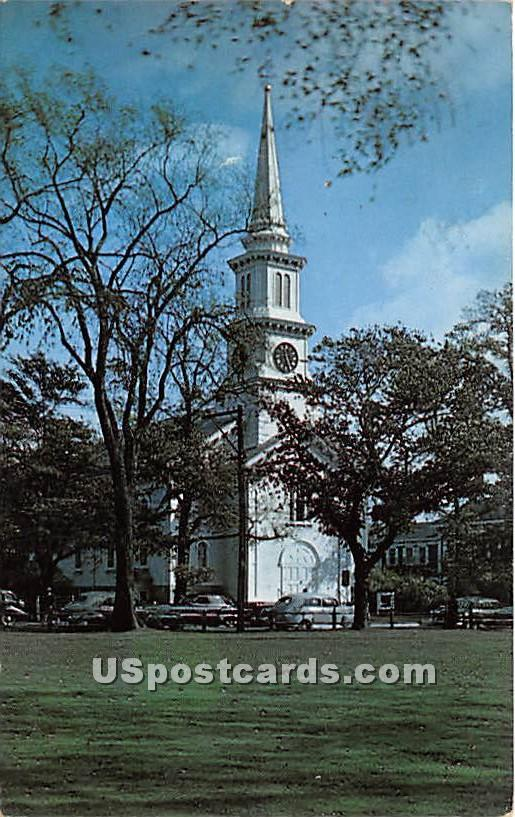 Congregational Church with Original Paul Rever Bell - Falmouth, Massachusetts MA Postcard