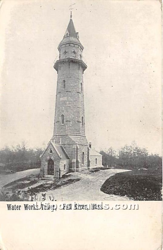 Water Works Tower - Fall River, Massachusetts MA Postcard