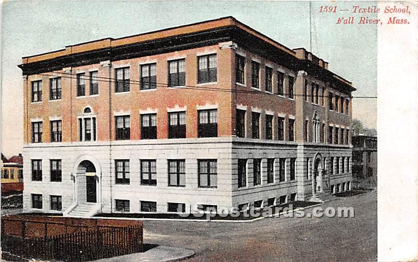 Textile School - Fall River, Massachusetts MA Postcard