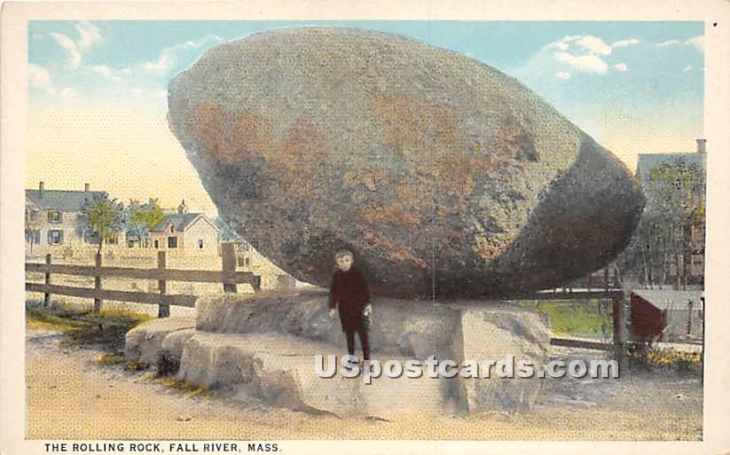 The Rolling Rock - Fall River, Massachusetts MA Postcard