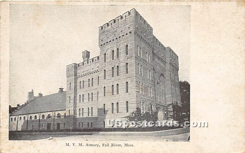 MVM Armory - Fall River, Massachusetts MA Postcard