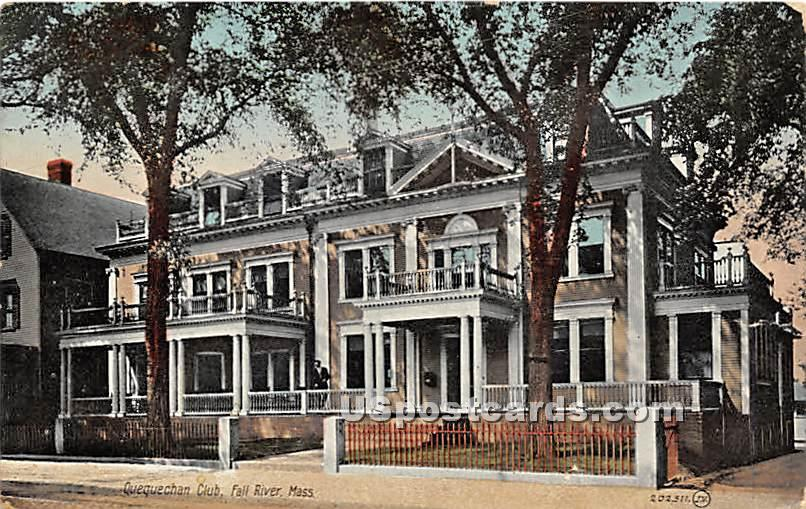 Quequechan Club - Fall River, Massachusetts MA Postcard