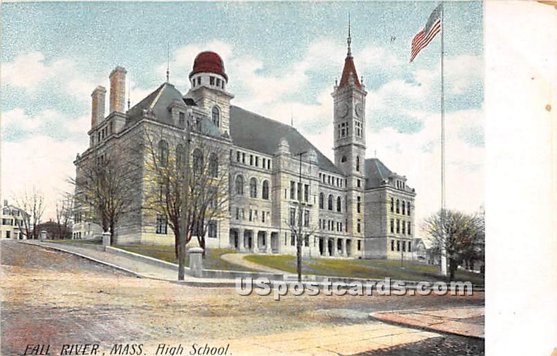 High School - Fall River, Massachusetts MA Postcard