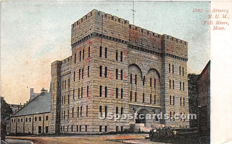 Armory, MUM - Fall River, Massachusetts MA Postcard