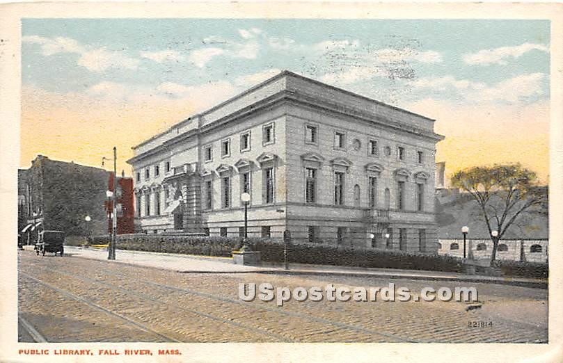 Public Library - Fall River, Massachusetts MA Postcard