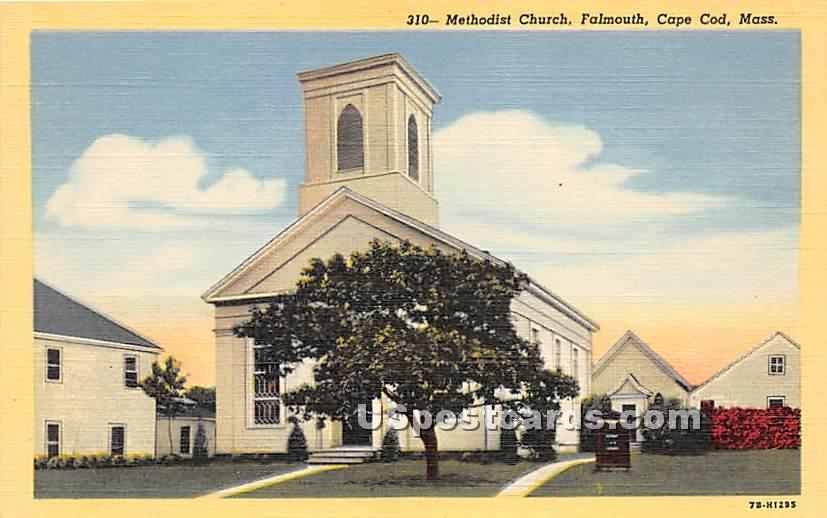 Methodist Church - Falmouth, Massachusetts MA Postcard