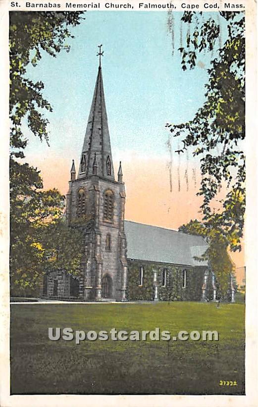 St barnabas Memorial Church - Falmouth, Massachusetts MA Postcard