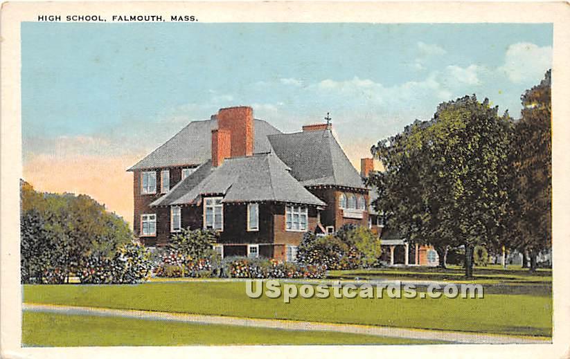 High School - Falmouth, Massachusetts MA Postcard