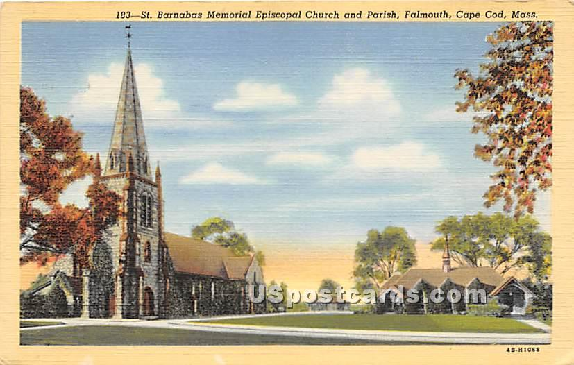 St Barnabas Memorial Episcopal Church & Parish - Falmouth, Massachusetts MA Postcard