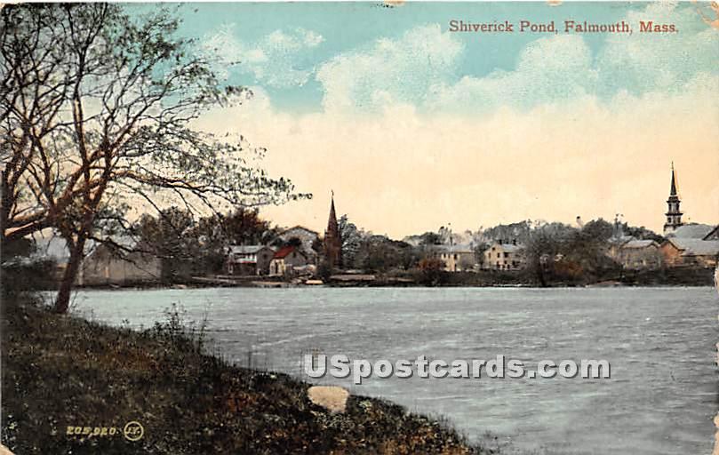 Shiverick Pond - Falmouth, Massachusetts MA Postcard