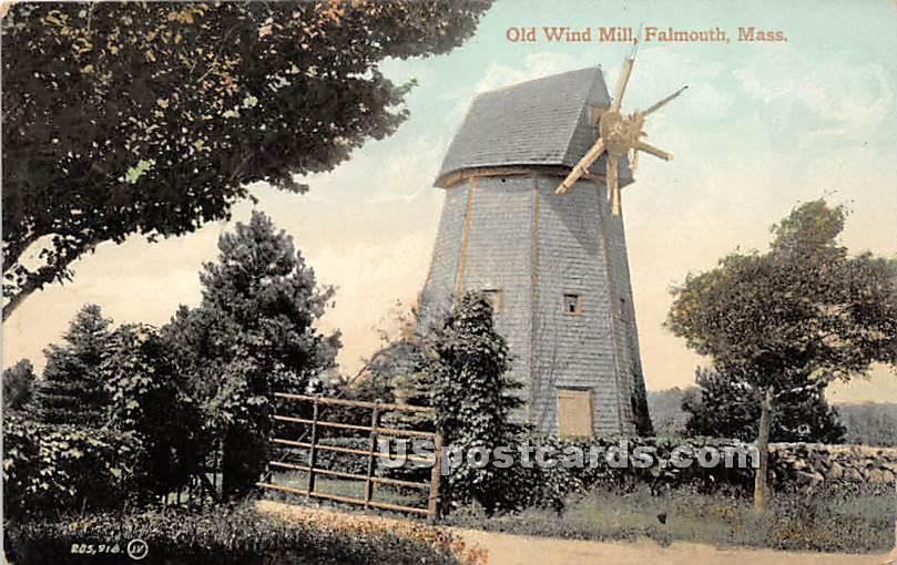 Old Wind Mill - Falmouth, Massachusetts MA Postcard