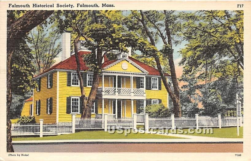 Falmouth Historical Society Building - Massachusetts MA Postcard