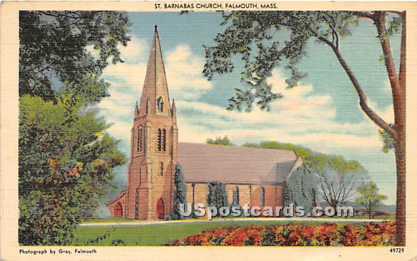 St Barnabas Church - Falmouth, Massachusetts MA Postcard