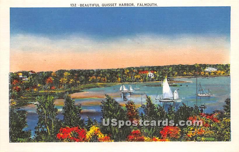 Beautiful Quisset Harbor - Falmouth, Massachusetts MA Postcard