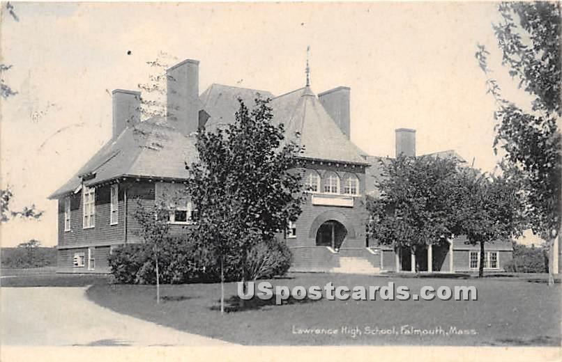 Lawrence High School - Falmouth, Massachusetts MA Postcard