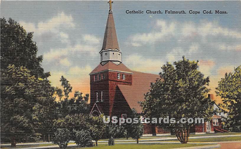 Catholic Church - Falmouth, Massachusetts MA Postcard