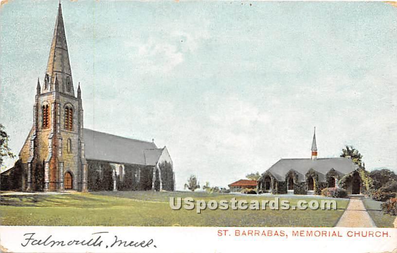 St Barrabas Memorial Church - Falmouth, Massachusetts MA Postcard