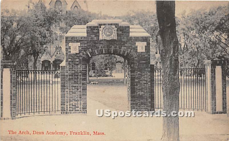 The Arch at Dean Academy - Franklin, Massachusetts MA Postcard
