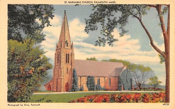 St. Barnabas Church Falmouth, Massachusetts Postcard