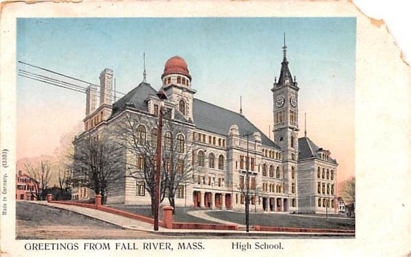 Greetings from Fall River  Massachusetts Postcard
