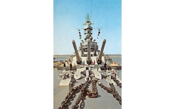 USS Massachusetts Postcard