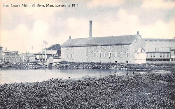 First Cotton Mill Fall River, Massachusetts Postcard