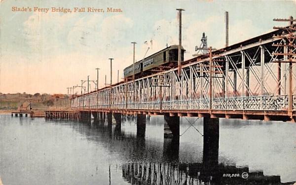 Slade's Ferry Bridge Fall River, Massachusetts Postcard