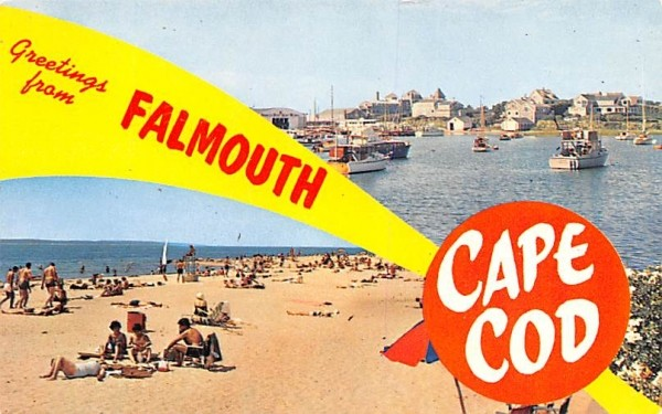 Greetings from Falmouth Massachusetts Postcard