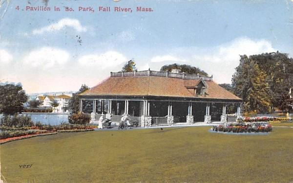 Pavilion in So. Park Fall River, Massachusetts Postcard