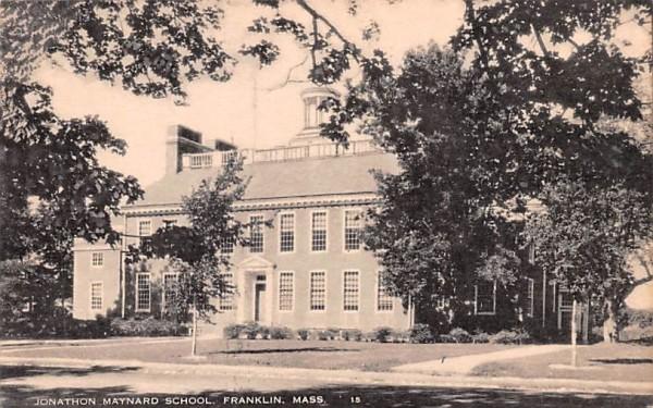 Jonathon Maynard School Franklin, Massachusetts Postcard