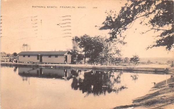 Bathing Beach Franklin, Massachusetts Postcard