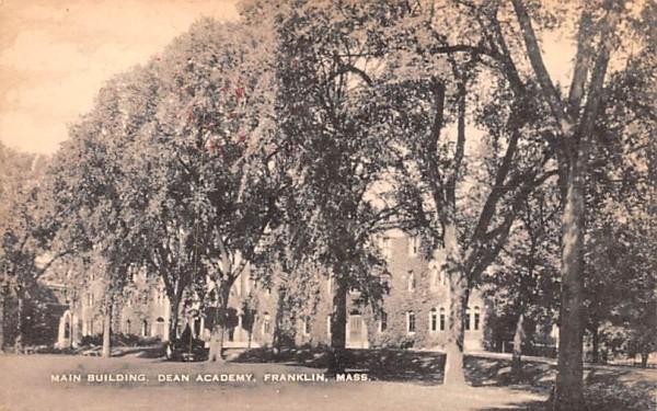 Main Building Franklin, Massachusetts Postcard