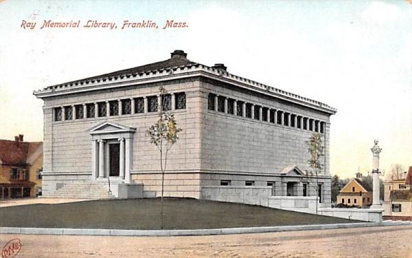 Ray Memorial Library Franklin, Massachusetts Postcard