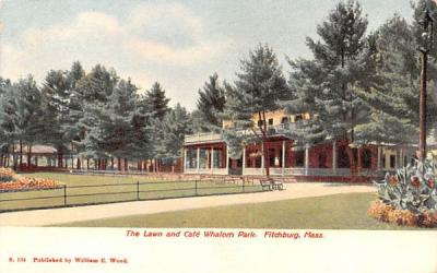 The Lawn & Caf» Whalom Park Fitchburg, Massachusetts Postcard