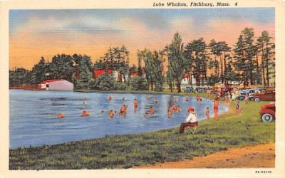 Lake Whalom Fitchburg, Massachusetts Postcard