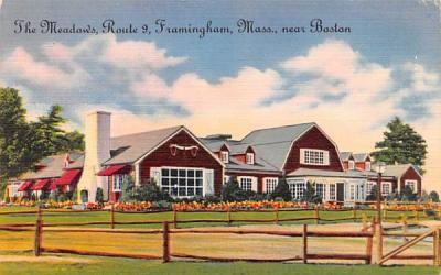 The Meadows Framingham, Massachusetts Postcard
