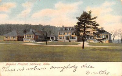 Burbank Hospital Fitchburg, Massachusetts Postcard