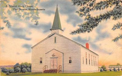 A Typical Army Chapel Fort Devens, Massachusetts Postcard