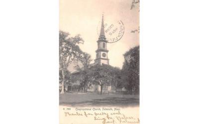 Congregational Church Falmouth, Massachusetts Postcard