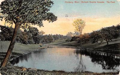 Burbank Hospital Grounds Fitchburg, Massachusetts Postcard