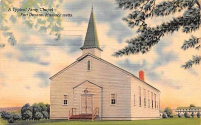 A Typical Army Chapel Fort Devens, Massachusetts Postcard