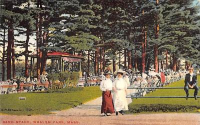 Band Stand Fitchburg, Massachusetts Postcard