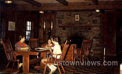The Lounge, Bascom Lodge - Mt Greylock, Massachusetts MA Postcard