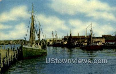 Waterfront - Gloucester, Massachusetts MA Postcard