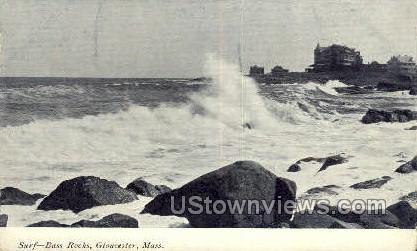 Bass Rocks - Gloucester, Massachusetts MA Postcard