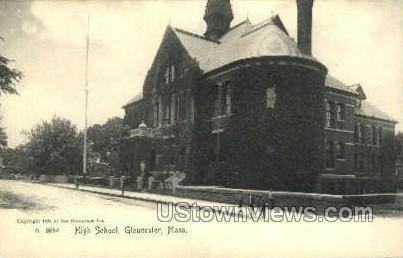 High School, Gloucester - Massachusetts MA Postcard