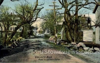 Road to Eastern Point - Gloucester, Massachusetts MA Postcard