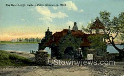 Gate Lodge, Eastern Point - Gloucester, Massachusetts MA Postcard