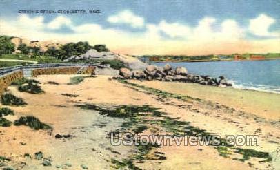 Cressy's Beach - Gloucester, Massachusetts MA Postcard