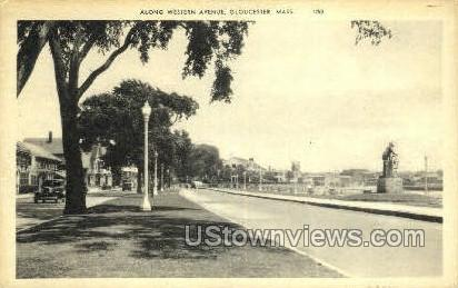 Western Ave. - Gloucester, Massachusetts MA Postcard